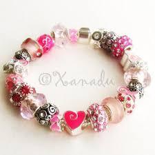 pink beads bracelet images Pink warrior breast cancer awareness european charm bracelet jpg