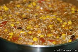 crystalandcomp easy recipes beefy mexican rice a family recipe
