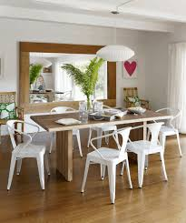 dining room table decor oak laminate flooring white clear glass