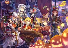 halloween background anime hong meiling zerochan anime image board