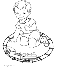 christmas coloring pages toy train