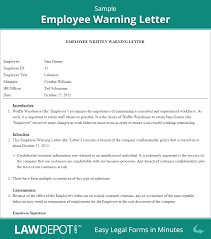 contract termination letter sample uk employee warning letter free employee warning form us lawdepot employee warning letter sample