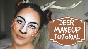 Cleopatra Makeup Tutorial Halloween Costume Ideas Youtube Deer Makeup Tutorial Halloween Costume Youtube