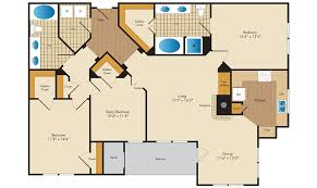 3 Bed 2 Bath Floor Plans by Floor Plans Concord Park At Russett Apartments In Laurel Md