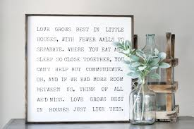 love grows best in little houses vintage typewriter font