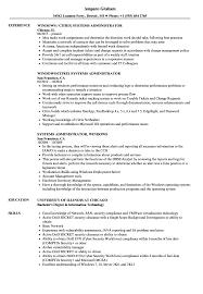 windows resume templates systems administrator windows resume sles velvet