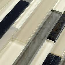Stone Glass Tile Backsplash by Interlocking Tile Sheets Glass Blend Stone Mosaic Tile Designs Sg116