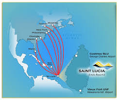map of st map of st lucia airport hewanorra airport map in vieux fort