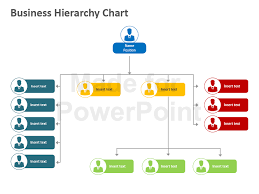 powerpoint hierarchy chart template