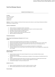 Fast Food Resume Sample by Food Service Manager Resume Sample Combination Resume Samples
