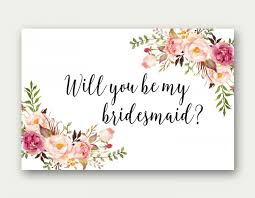 bridesmaid invitations template will you be my bridesmaid printable bridesmaid card bridesmaid