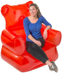 Blow Up Armchair Gummy Bear Chair Candy Shaped Inflatable Furniture