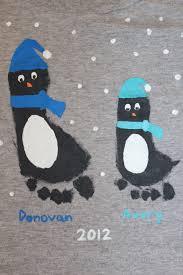 footprint craft love the penguins baby pinterest footprint