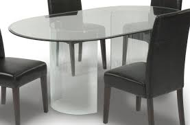 dining room tables oval round tempered glass top dining table set