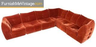 velvet sectional sofa velvet 1970s pit group sectional sofa