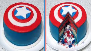 captain america cakes captain america inside pinata cake recipe cupcakegirl