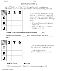 great site lots o u0027 free worksheets like these logic puzzles