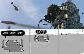 Godzilla Nope Meme - this makes godzilla look like a harmless kitten by farts meme