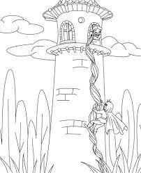 rapunzel coloring pages coloringsuite com
