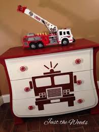 i know a little boy with enough fire trucks to fill four