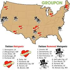 tattoos and tattoo removal top us cities for each