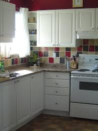 backsplash tile ideas solid wood kitchen storage cabinets wooden