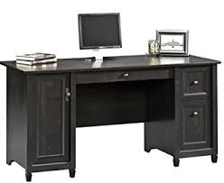 amazon com sauder edge water computer desk estate black kitchen