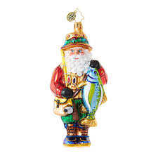 christopher radko ornaments radko santa claus the bass time of