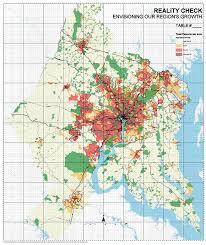 washington dc region map arcnews fall 2005 issue regional growth around washington d c
