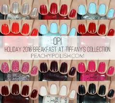 opi holiday 2016 breakfast at tiffany u0027s collection swatches