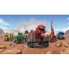 Popular Characters Murals Roommates Roommates Dinotrux Xl Chair Rail Prepasted Mural 6 X 10 5