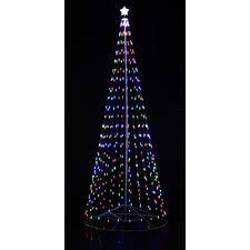 homebrite solar outdoor led cone tree u0026 reviews wayfair