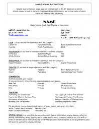 Mvc Resume Sample by Clever Model Resume 12 Free Resume Samples For Every Career