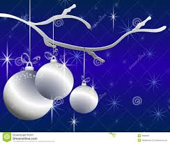 hanging silver ornaments card royalty free stock images