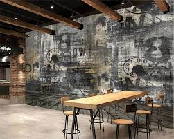 online buy wholesale europe cafe wall murals from china europe beibehang custom wallpaper living room bedroom mural retro nostalgic english cafe bar tv background wall mural