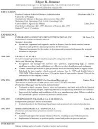 resume exles for exle of a professional resume for a resume exles