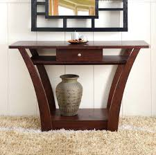 Wooden Console Table Modern Console Table With Drawers Uk Drawer Walnut Sofa Entry