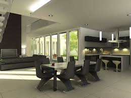 Black Modern Dining Room Sets Modern Dining Room Sets Glossy Black Granite Table Tops White