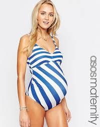 asos maternity asos maternity swimsuit in stripe