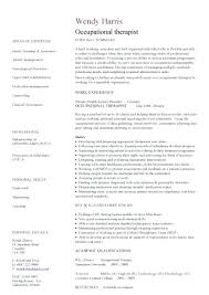 occupational therapy resume inssite