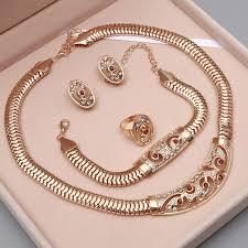 wedding jewellery sets gold dubai gold color jewelry sets wedding