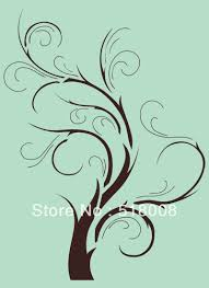 tree branch home decor wall stencil template pattern tree branch