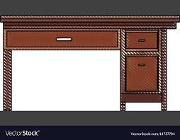 Office Desk Wooden Drawing Office Desk Wooden Drawer Handle Furniture
