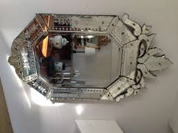 interior oblong wall mirrors venetian mirror scalloped mirror
