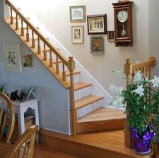 remarkable staircase design with landing decor combined white
