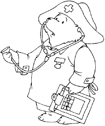 paddington bear coloring pages coloring pages