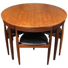 Teak Dining Room Chairs Hans Teak Roundette Dining Room Set For Frem Rojle