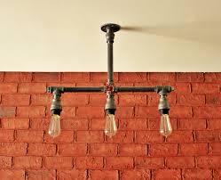 industrial bathroom pipe lighting interiordesignew com