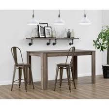 Walmart Bar Stools Set Of 2 Titus Rustic Wood And Metal Pub Table Zuo Rustic Wood Woods