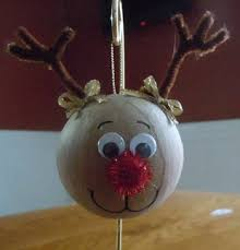 reindeer ornament made from paper mache ornament